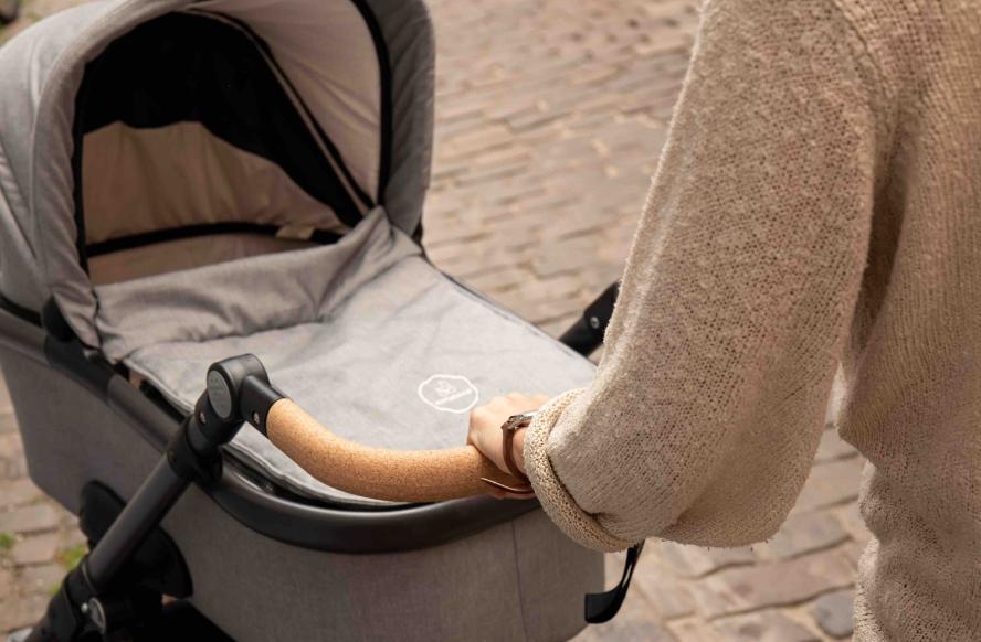 naturkind kinderwagen - verstellbarer lenkbügel