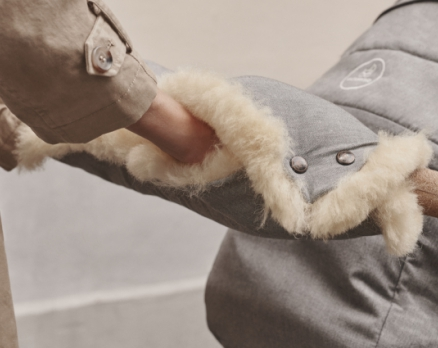 naturkind kinderwagen - warmer kinderwagen muff lammfell