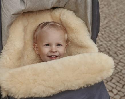naturkind kinderwagen - wärmender lammfellsack