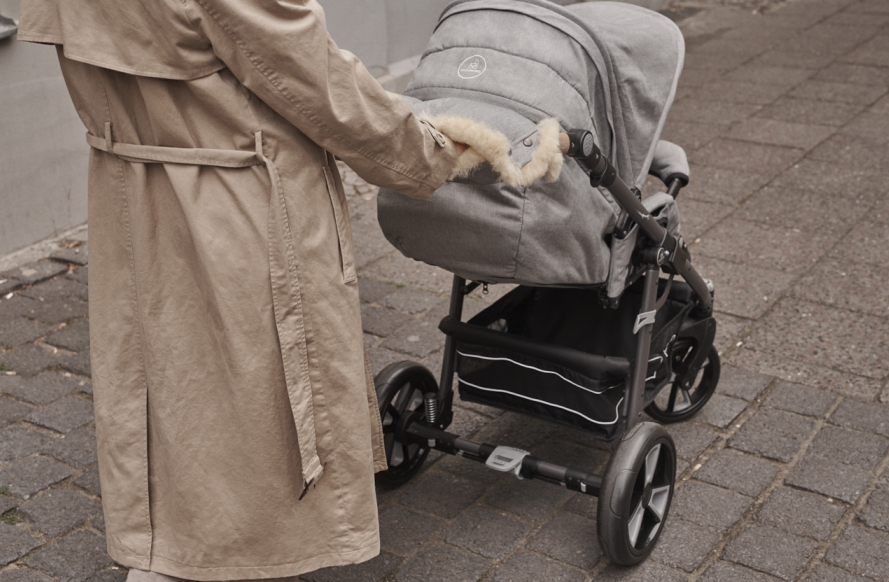 naturkind kinderwagen - muff lammfell warm