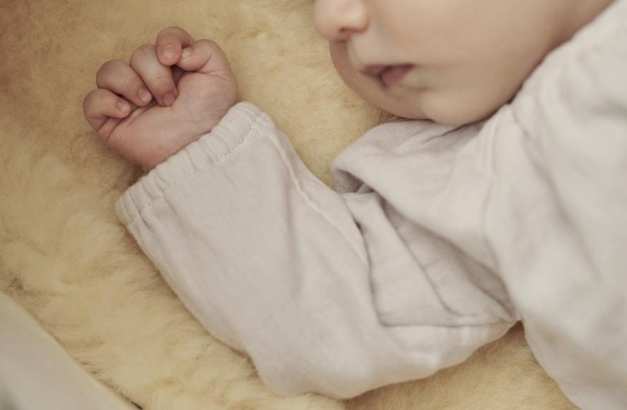 Baby Lammfellsack für Kinderwagen